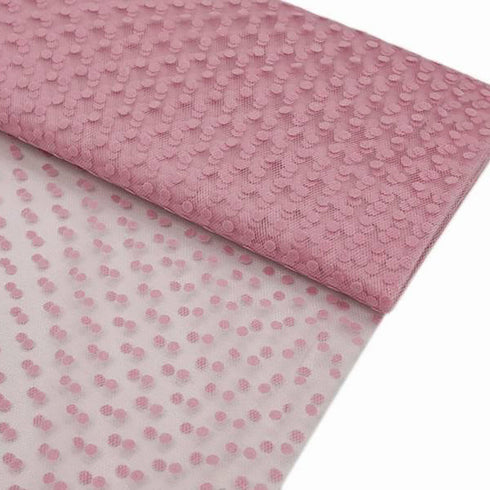 "Dots The Way I Like It Pink 60""x10yards Tulle"