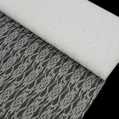 "Fleur Soft Sheer Lace Fabric White 60"" x 10yards"