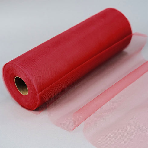 "12"" x 100 Yard Red Tulle Fabric Bolt"
