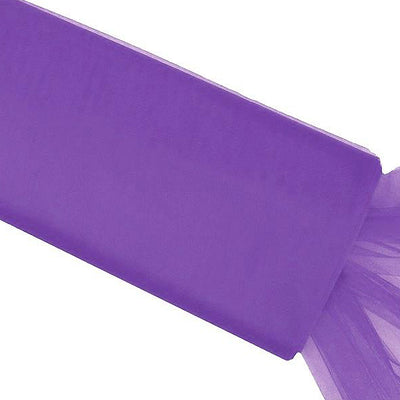 "54""x40 Yards Purple Tulle Fabric Bolt Wedding Drape Panel Stage Decor"