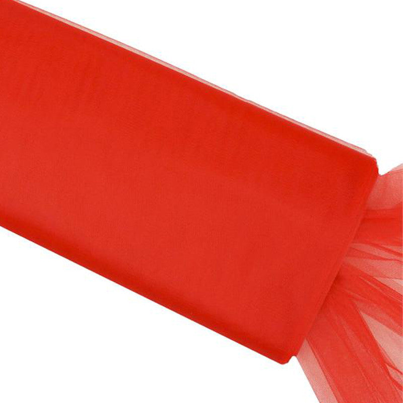 "100 Yards Tulle Wedding Backdrop Wedding Decoration 15cm: 54"" X 40yd Tulle Bolt - Red"