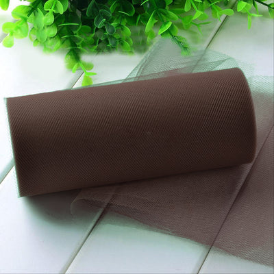 "6""x100yd Tulle Rolls - Chocolate"