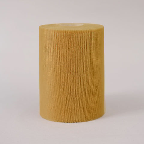"6""x100yd Tulle Rolls - Gold"