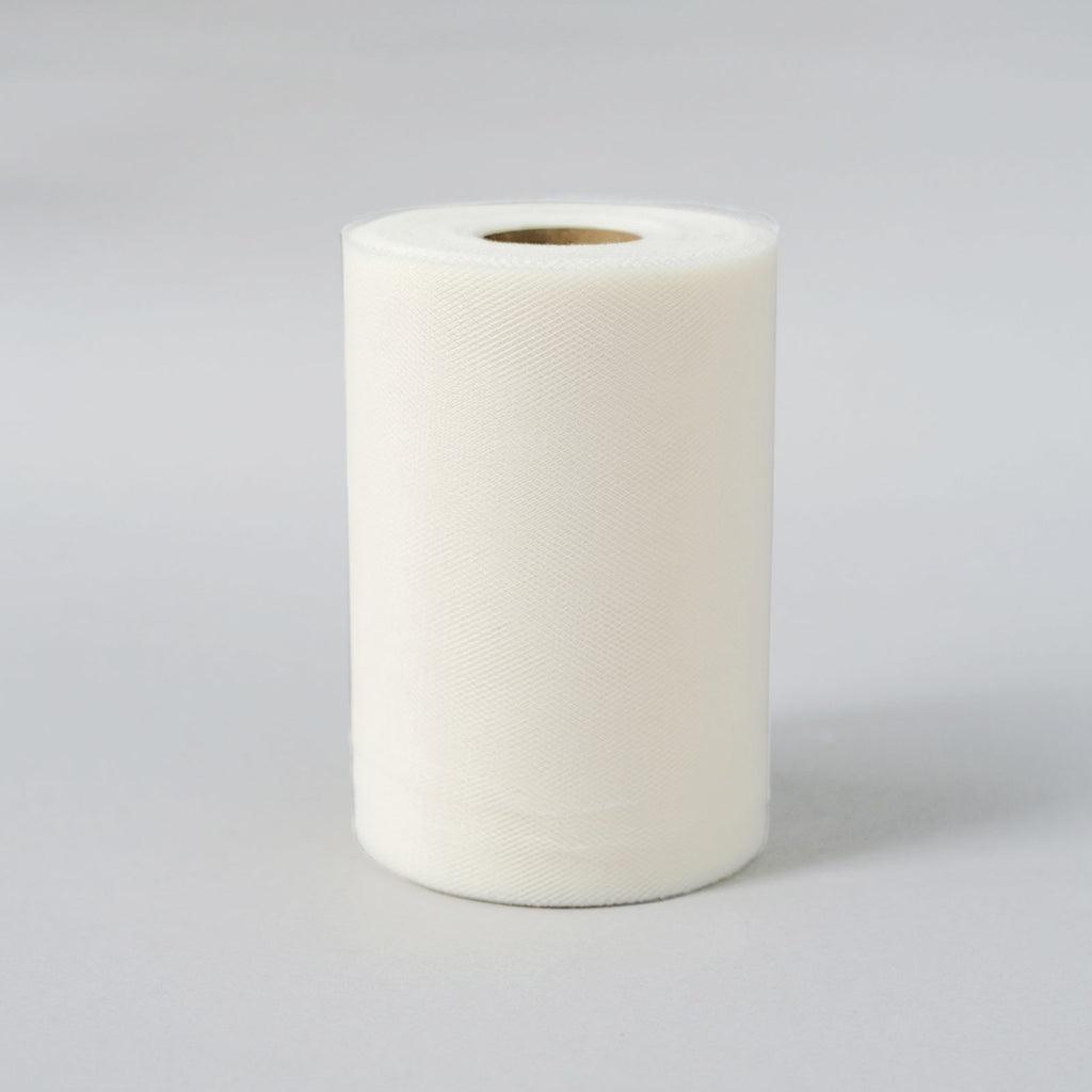 "6""x100yd Tulle Rolls - Ivory"