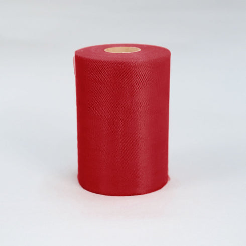 "6""x100yd Tulle Rolls - Red"