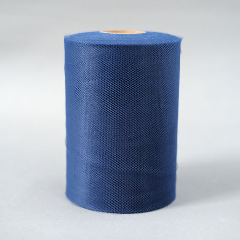 "6""x100 Yards Royal Blue Tulle Fabric Bolt Wedding Drape Panel Stage Decor"