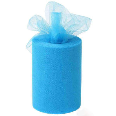 "6""x100 Yards Turquoise Tulle Fabric Bolt Wedding Drape Panel Stage Decor"