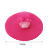 "9"" - 25 Pcs Fushia Scalloped Tulle Circles - Sheer Nylon Fabric"