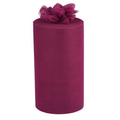 "9"" x 100 Yards Eggplant Tulle Roll Fabric Bolt"