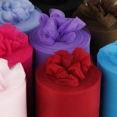 "9""x100yd Tulle Rolls - Red"