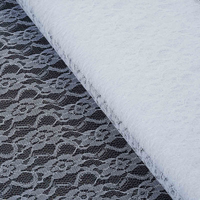 "54""x15 Yards White Floral Shimmer Lace Tulle Fabric Bolt Wedding Drape Panel Stage Decor"
