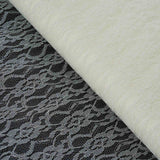"54""x15 Yards Ivory Floral Shimmer Lace Tulle Fabric Bolt Wedding Drape Panel Stage Decor"