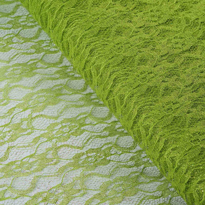 "54""x15 Yards Tea Green Floral Shimmer Lace Tulle Fabric Bolt Wedding Drape Panel Stage Decor"