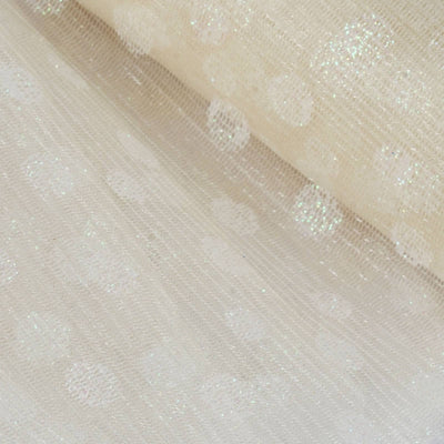 "Glittered Polka Dots Tulle - Ivory - 6""x10 Yards"