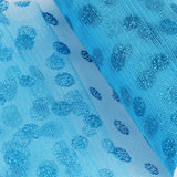 "Glittered Polka Dots Tulle - Turquoise- 6""x10 Yards"