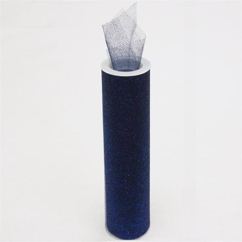 "LUSTROUS TULLE Collection 6"" x 10yards Navy"