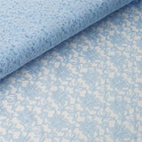 "Beguiling Blossomy Lace Fabric Bolt -Serenity Blue- 54""x15 YARDS"