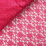 "Beguiling Blossomy Lace Fabric Bolt -Fushia- 54""x15 YARDS"