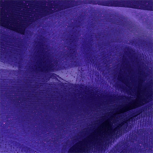 "Shimmering Glitter Sparkle Dot Tulle Fabric-Purple-54""x15 Yard"