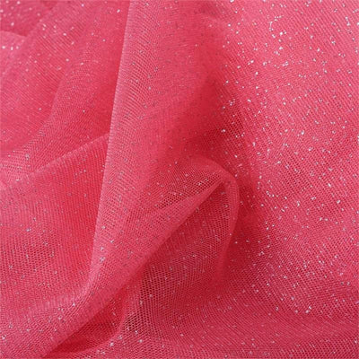 "Shimmering Glitter Sparkle Dot Tulle Fabric-Rose Quartz-54""x15 Yard"