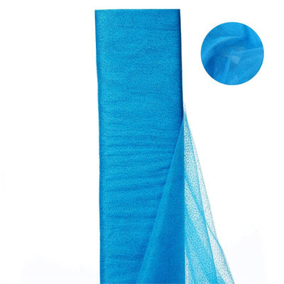 "54""x15 Yards Turquoise Glitter Dot Tulle Fabric Bolt Wedding Drape Panel Stage Decor"