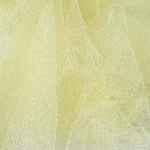 "Shimmering Glitter Sparkle Dot Tulle Fabric-Yellow-54""x15 Yard"