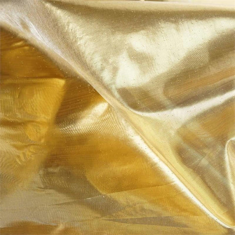 "Glossy Premium Polyester Party Wedding Tulle Fabric Bolt By Yard- GOLD- 54""x10 Yards"