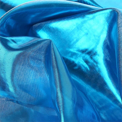 "Glossy Premium Polyester Party Wedding Tulle Fabric Bolt By Yard- TURQUOISE- 54""x10 Yards"