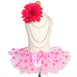 Fluffy Pink & Fushia Polka Dots Girls Tutu Skirt - S