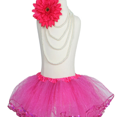 Fuchsia Sparkling Sequined Tutu Skirt