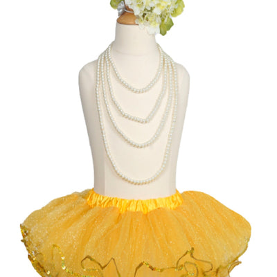 Sun-glow Yellow Sparkling Sequined Tutu Skirt