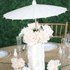 "12"" White Paper Parasol Umbrella"