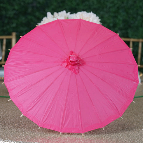 28quot fushia paper parasol umbrella wedding hanging decor