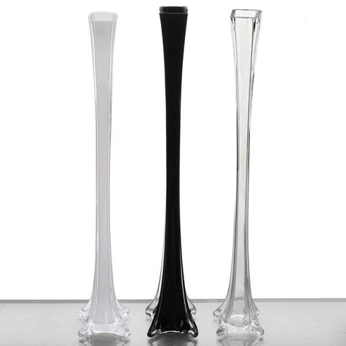 "24"" Eiffel Tower Glass Vases - 12pcs - Clear"