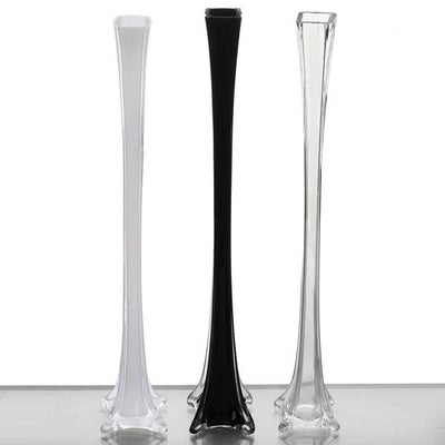 "24"" Eiffel Tower Glass Vases - 6pcs - Clear"