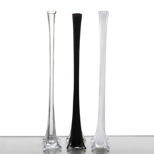 "28"" Eiffel Tower Glass Vases Table Decor - 6pcs - Clear"