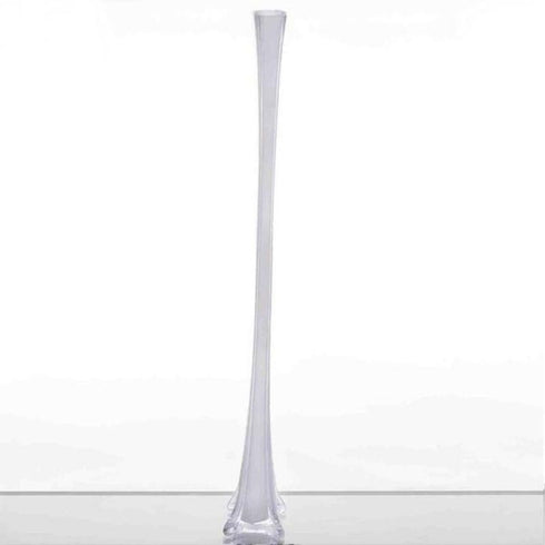 "36"" Eiffel Tower Glass Vases Table Decor - 6pcs - White"