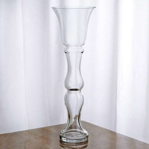 "20"" Tall Trumpet Pilsner Glass Floral Vase - 4pcs"