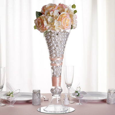 4 Pack 18 Trumpet Glass Vase Flower Decoration Centerpiece