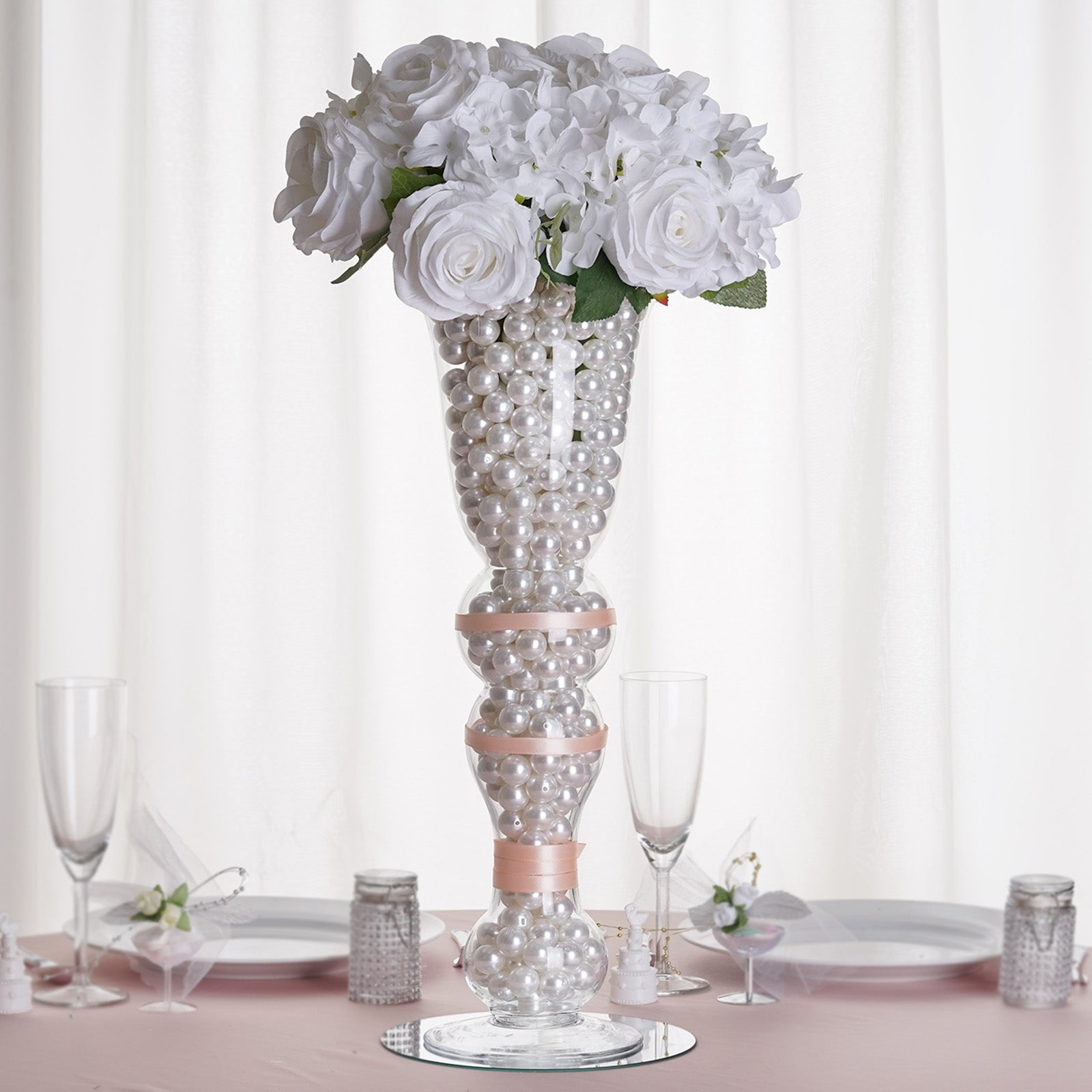 Beautiful tall trumpet vases home idea