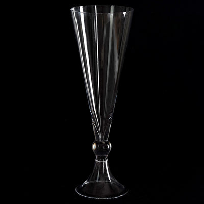 "16"" Tall Reversible Trumpet Pilsner Glass Floral Vase - 4pcs"