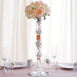 "20"" Tall Pillar Trumpet Pilsner Glass Floral Vase - 4pcs"
