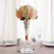 "11"" Tall Curvy Pilsner Glass Floral Vase - 4pcs"