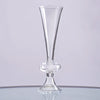 "11"" Tall 4 Pcs Curvy Pilsner Glass Floral Vase Centerpiece For Wedding Party Table Decoration"