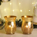 "Pack of 2 | 8""  Gold Crackle Glass Vase 