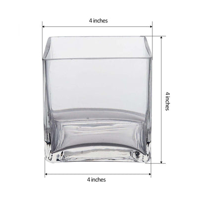 "4"" Clear Premium Heavy Duty Flower Glass Vase"