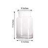 "2 Pack - 11"" Flared Neck Heavy Duty Clear Glass Vases"