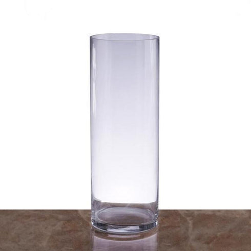"14"" Cylinder Glass Centerpiece Vase - 6pcs/Set"