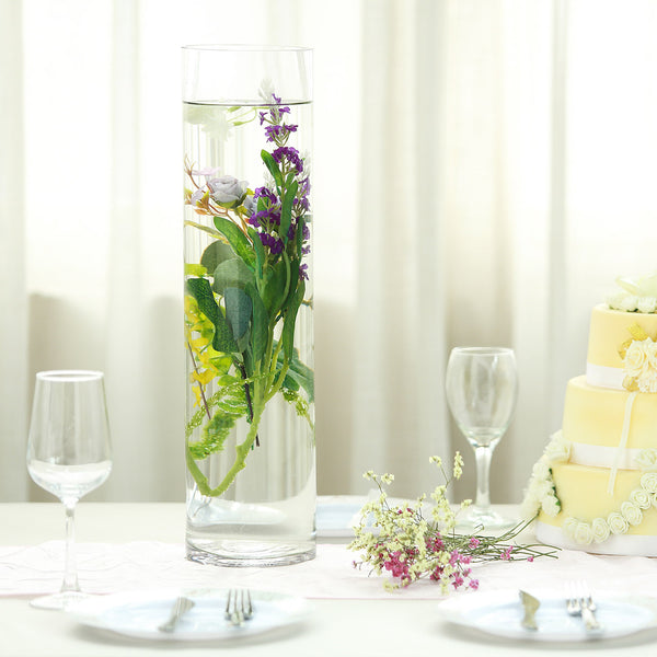 "6 Pack | 20"" Heavy Duty Cylinder Glass Vase"
