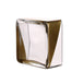 "2 Pack - 6"" Gold Dipped Square Glass Vases - Votive Candle Holders"